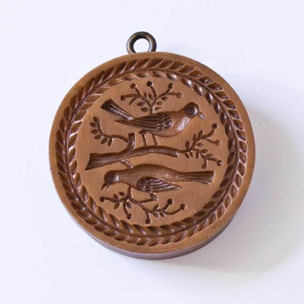 Round Bird Pair Cookie Mold