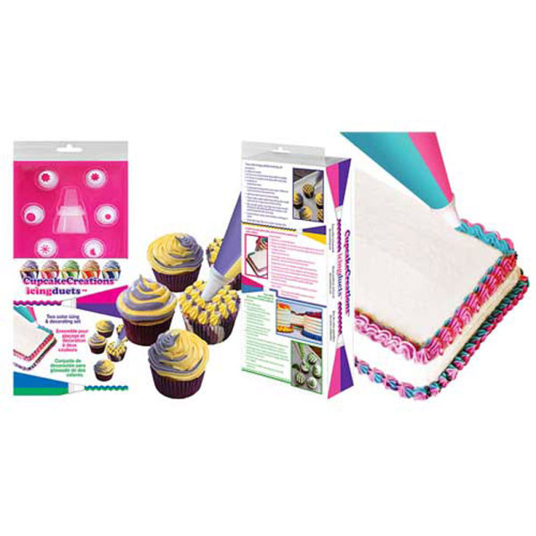 Cupcake Creations Disposable Duet Icing Bags Set