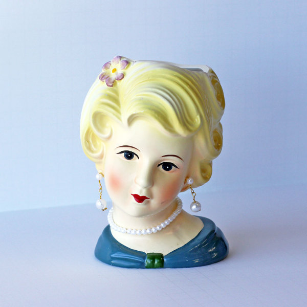 SALE!  Lady Head Vase