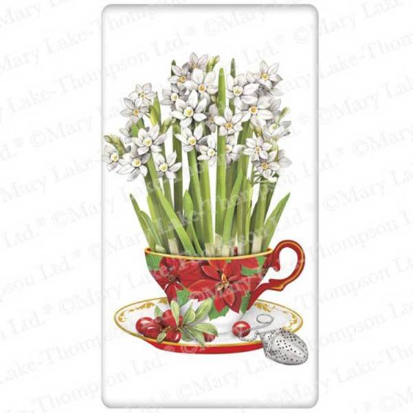 SALE!  Paperwhites In Teacups Flour Sack Towel
