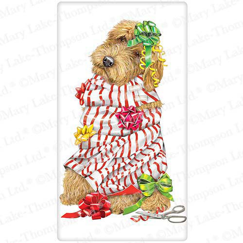 Wrapping Paper Pup Flour Sack Towel