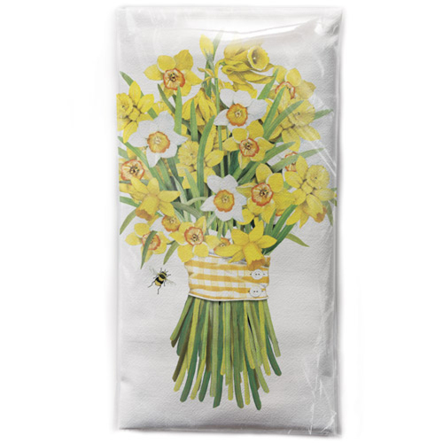 SALE! Daffodil Bouquet Flour Sack Towel