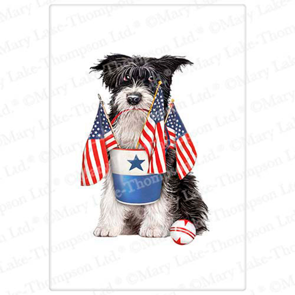 SALE!  Mutt with Flags Flour Sack Towel