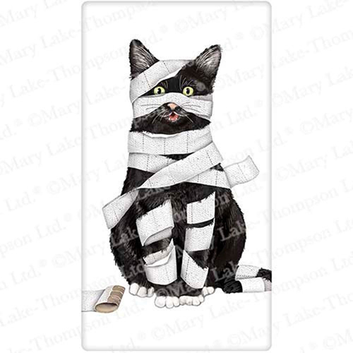 SOS!  Mummy Cat Flour Sack Towel