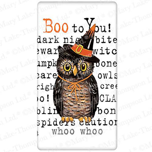 Owl with Words Flour Sack Towel