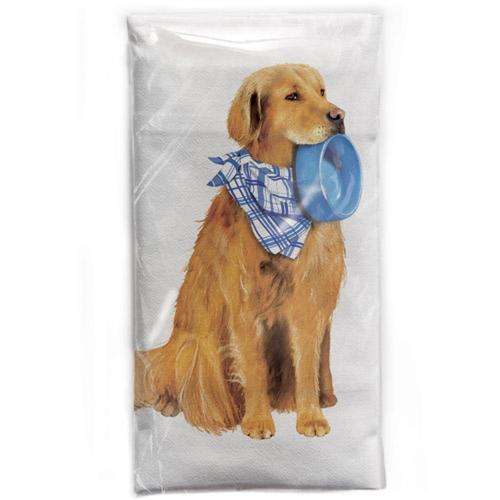 SALE!  Golden with Bowl Flour Sack Towel