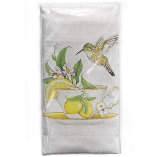Tea Cup Lemons Flour Sack Towel