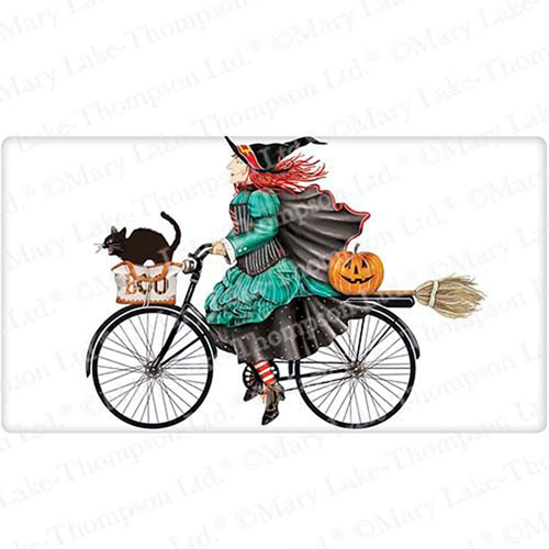 Witch on Bike Flour Sack Towel