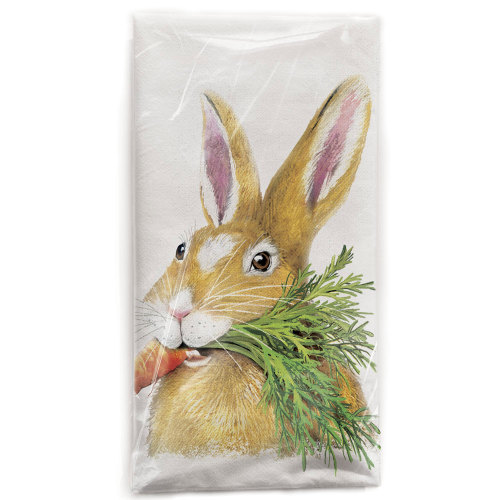 Hungry Rabbit Flour Sack Towel