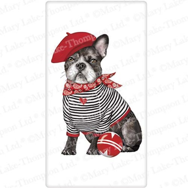 SALE!  French Bulldog Flour Sack Towel