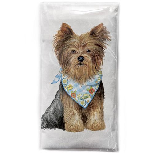 Bandana Yorkie Flour Sack Towel