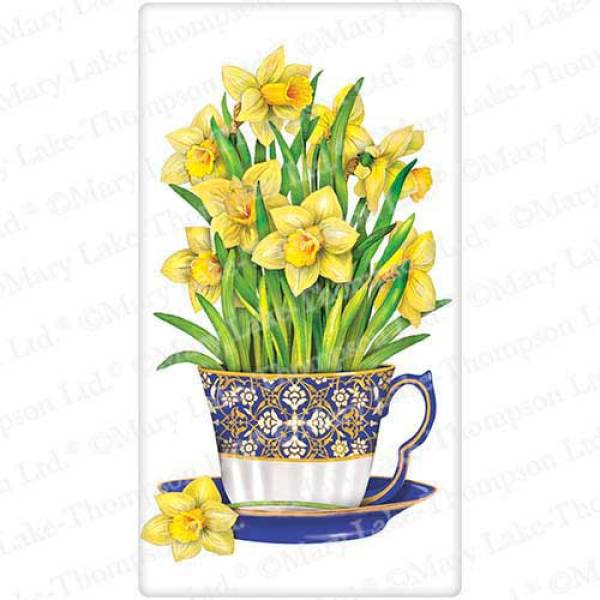 Daffodils in Teacup Flour Sack Towel