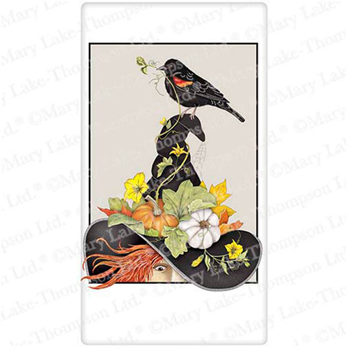 Harvest Hat Witch Flour Sack Towel
