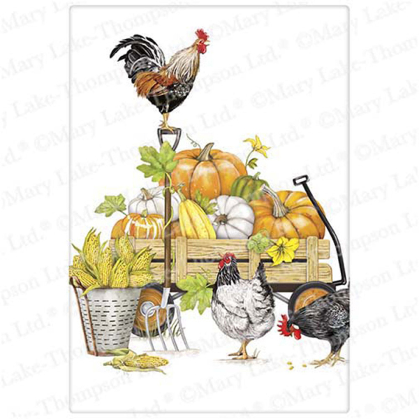 Chicken Fall Harvest Flour Sack Towel