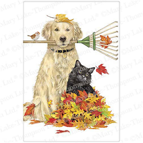 Raking Dog & Cat Flour Sack Towel