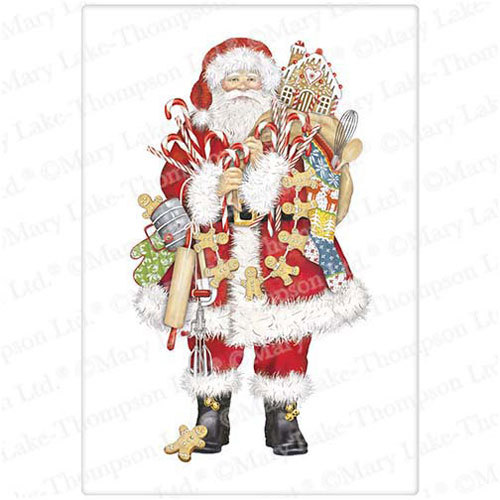 Gingerbread Santa Flour Sack Towel