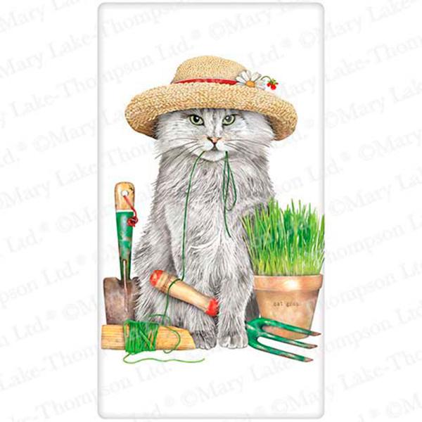 Garden Hat Cat Flour Sack Towel