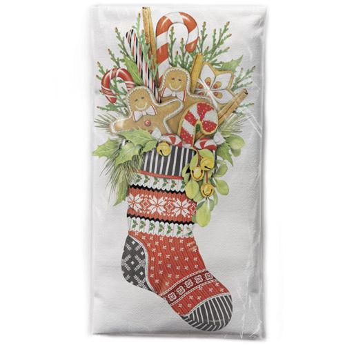 Gingerbread Stocking Flour Sack Towel