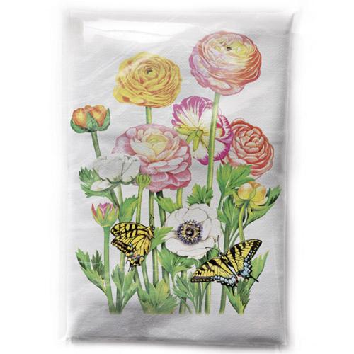 SALE!  Ranunculus Flour Sack Towel
