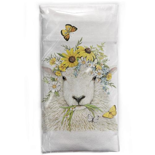 Spring Sheep Flour Sack Towel