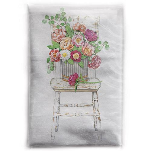 Peony Chair Flour Sack Towel
