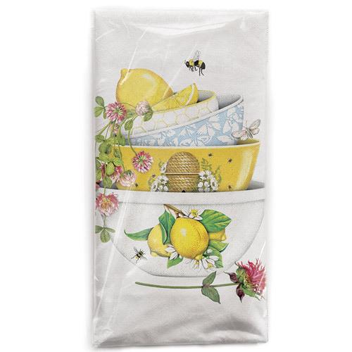 Lemon Clover Bowls Flour Sack Towel