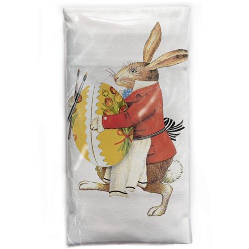 Red Coat Rabbit Flour Sack Towel