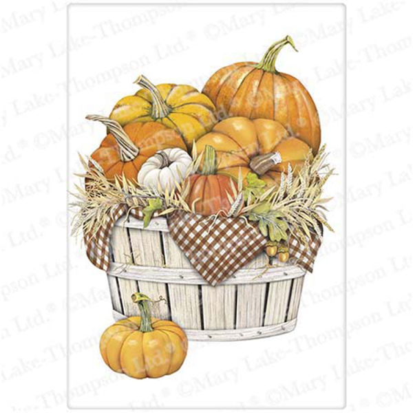 Pumpkin Basket Flour Sack Towel