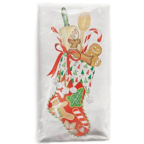 Christmas Stocking Flour Sack Towel