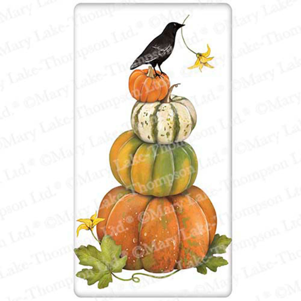 Stacked Pumpkins Flour Sack Towel