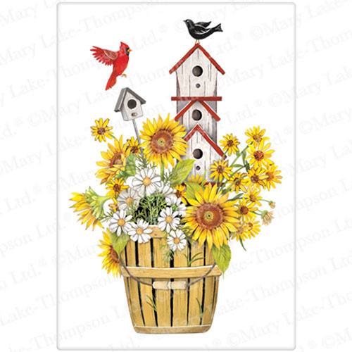 Sunflower Birdhouse Flour Sack Towel