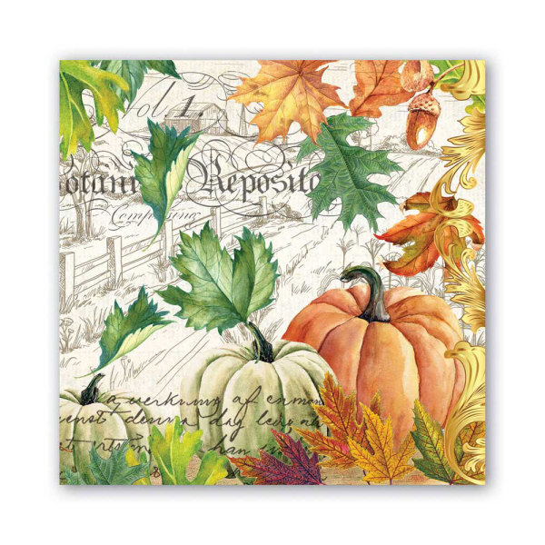 LTD QTY!  Fall Harvest Lunch Napkins
