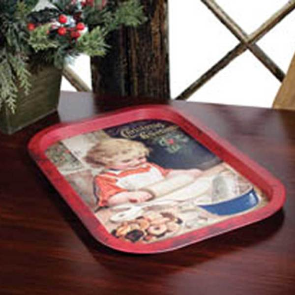 LTD QTY! Baking Girl Christmas Tray