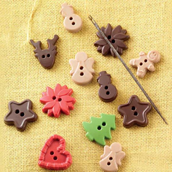 Easy Christmas Buttons Chocolate Mold