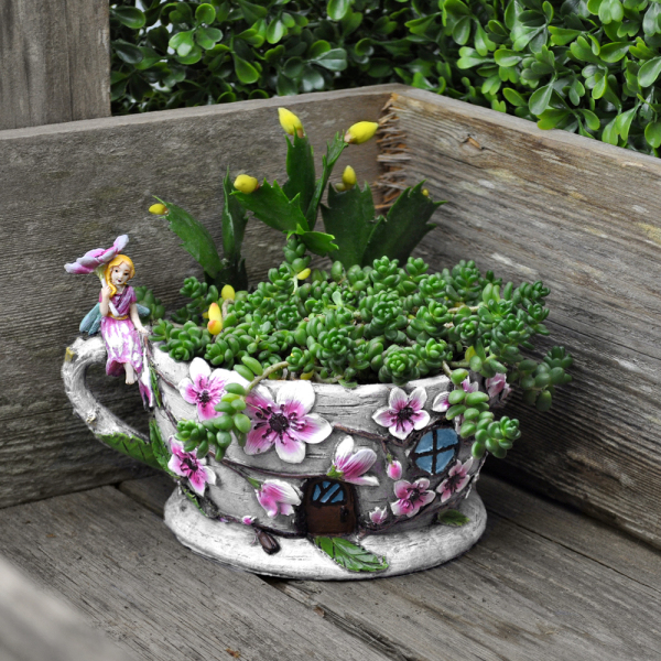 SALE!  Cherry Blossom Teacup House Planter
