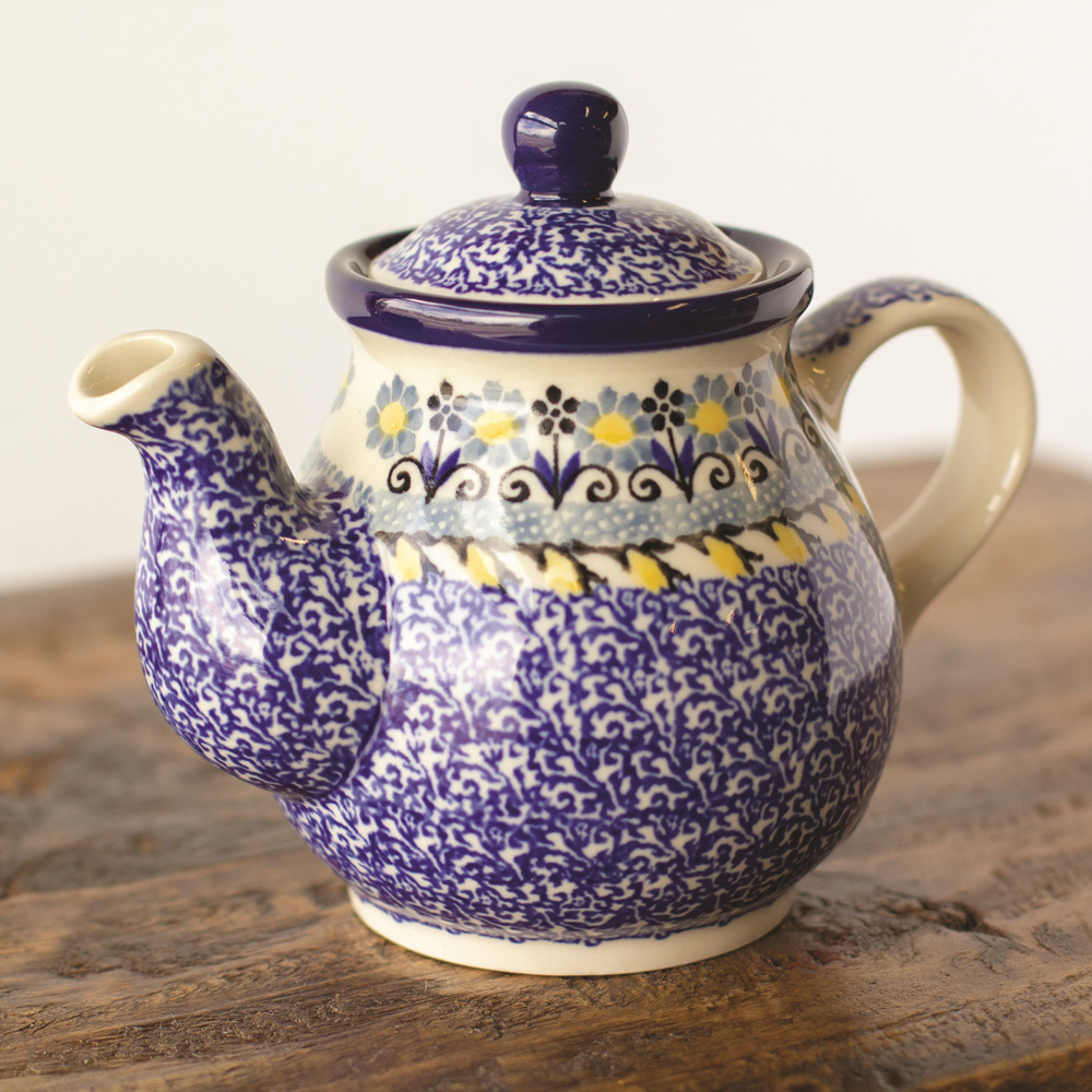SOS! Sunflower Tea for One - Polish Pottery