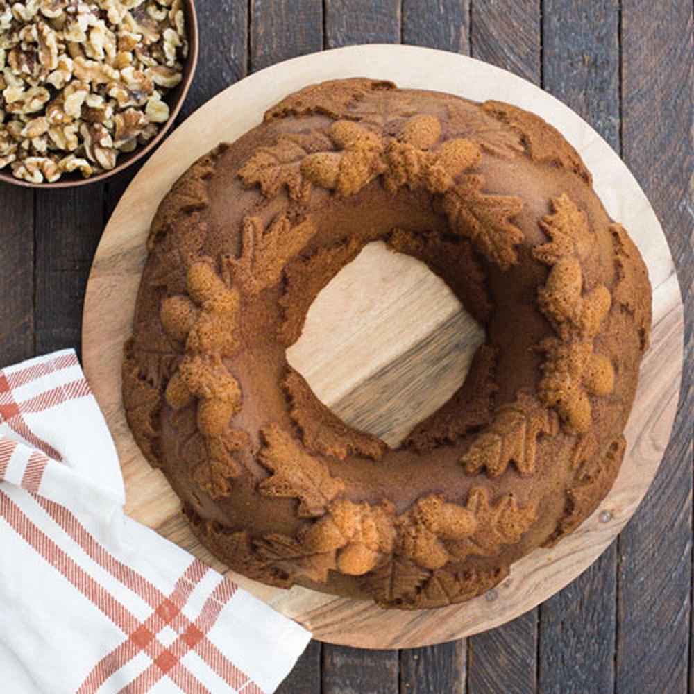 Autumn Wreath Bundt Pan Nordic Ware Bakeware Fancy Flours