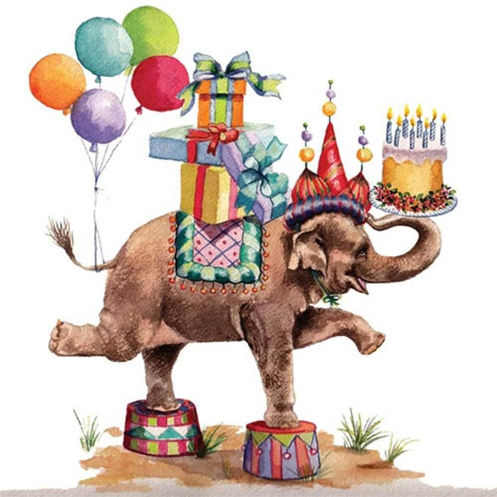 Открытка с днем рождения слона, картинки для