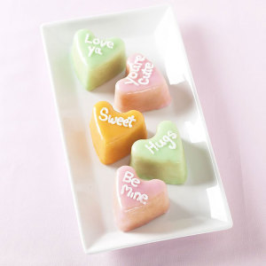 Conversation Hearts Cake Pan Nordic Ware Fancy Flours