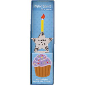 Birthday Wish Pewter Candle Holder