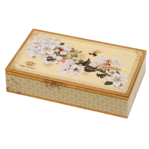 Bee & Blossom Hinged Tin