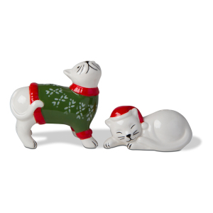 Merry Catmas Salt & Pepper