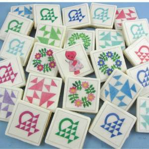 Granny Quilt Blocks Edible Wafer Paper