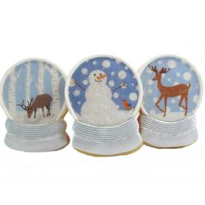 Holiday Snow Globe Wafer Paper