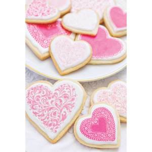 Valentine Fancy Hearts Wafer Paper