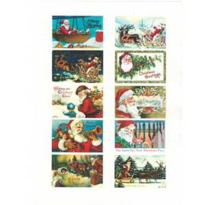 Mini Santa Postcard Wafer Paper