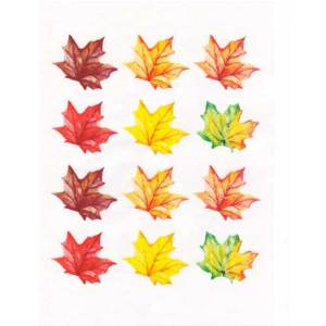 Autumn Leaves Wafer Paper