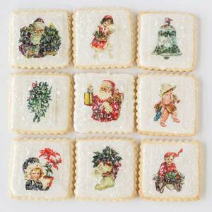 Joyful Christmas Miniatures Wafer Paper