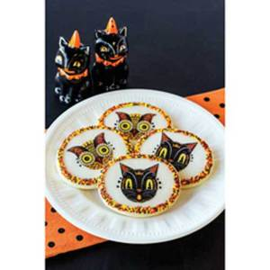 Black Cat & Owl Wafer Paper - A Johanna Parker Design