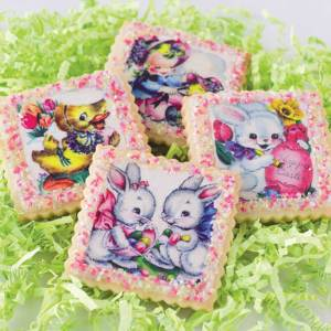 Retro Easter Squares Wafer Paper